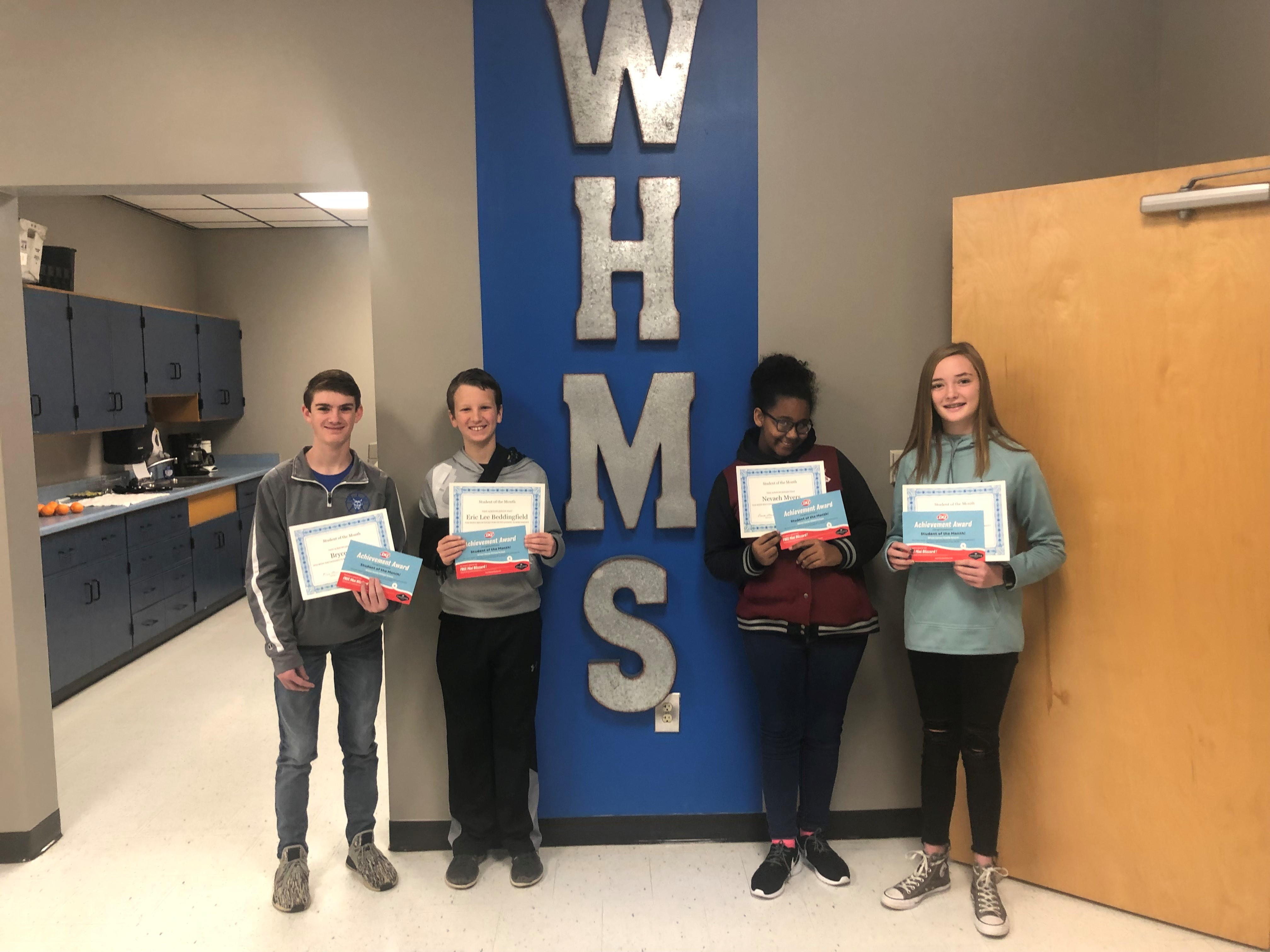 Congratulations To Our December Students Of The Month