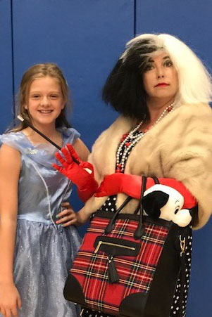 Teachers and Students dress up for Spirit Week- Disney Day