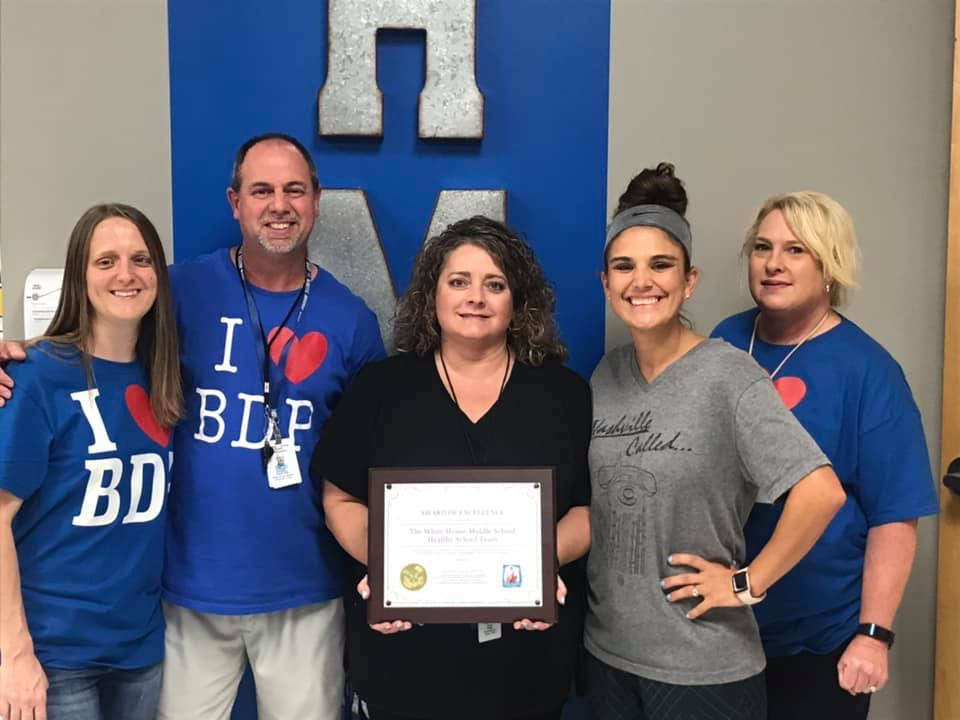 Congratulations to the 2018-2019 Outstanding Healthy School Team