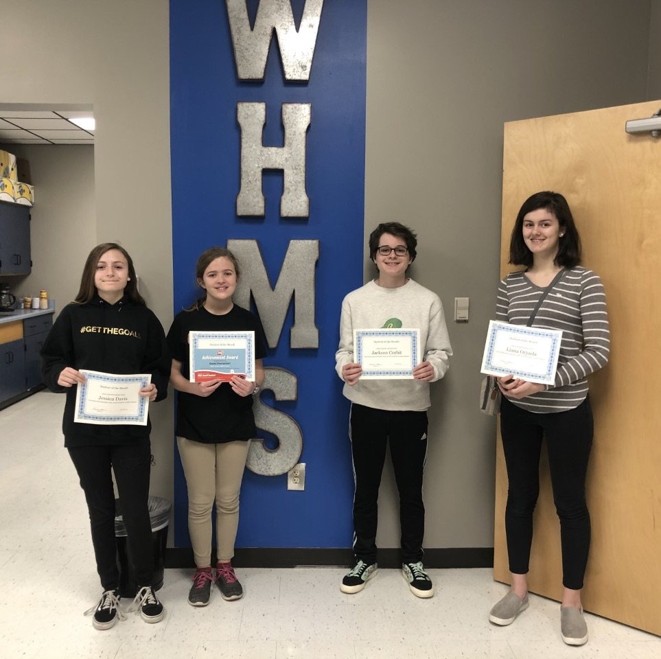 January Students Of The Month-Congratulations!!