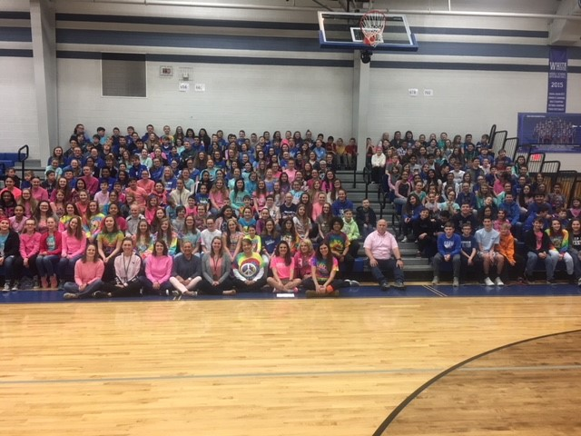 Students wear their rainbow colors in memory of Greycin Oaks