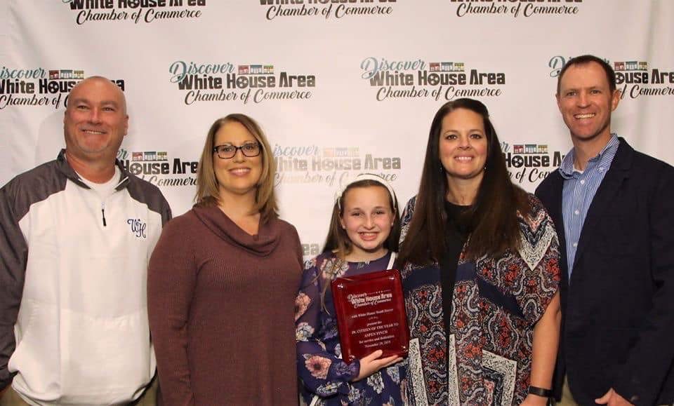 Congratulations To Aspen Finch- White House Junior Citizen Of The Yea
