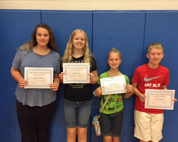 August Students Of The Month-Way To Go!!