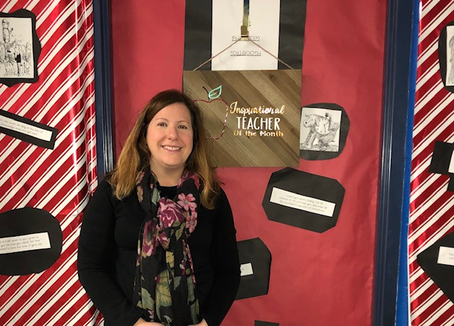 Congratulations To Ms. Scheel- Inspirational Teacher Of The Month For January