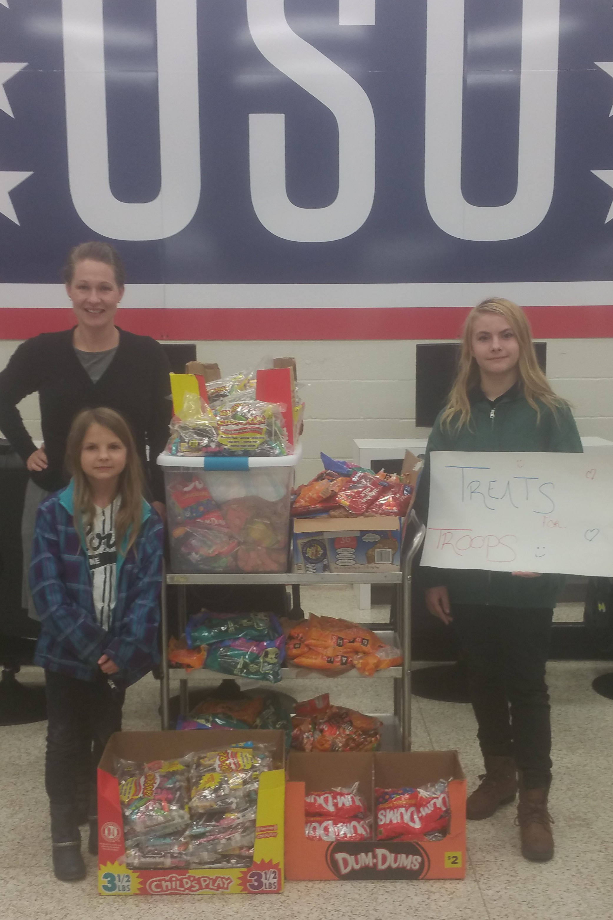 Halloween Candy Collected and Donated To Our US Troops